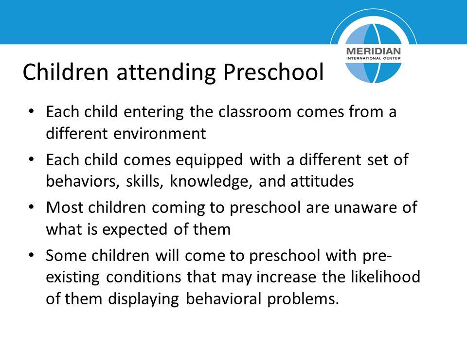Children attending Preschool