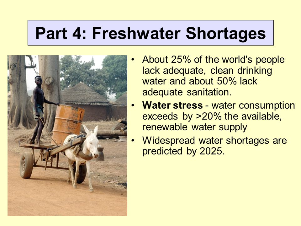 Part 4: Freshwater Shortages