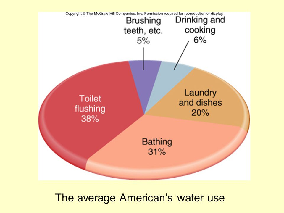 The average American's water use