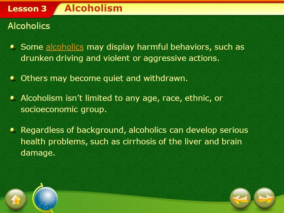 Alcoholism Alcoholics