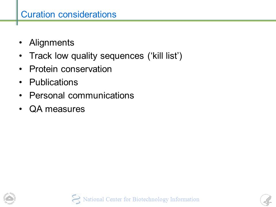 Curation considerations