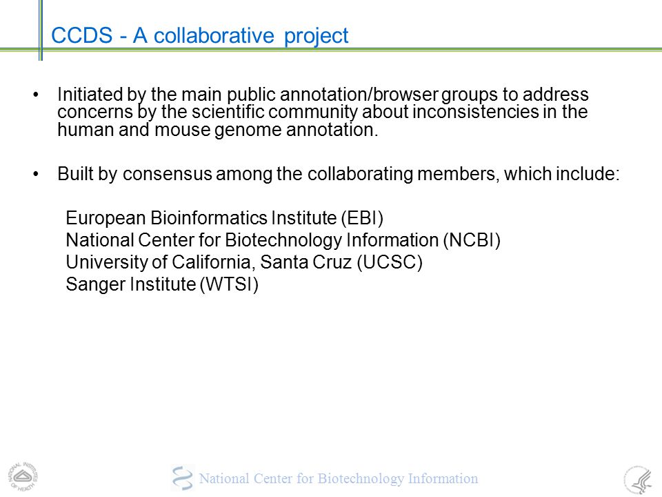 CCDS - A collaborative project