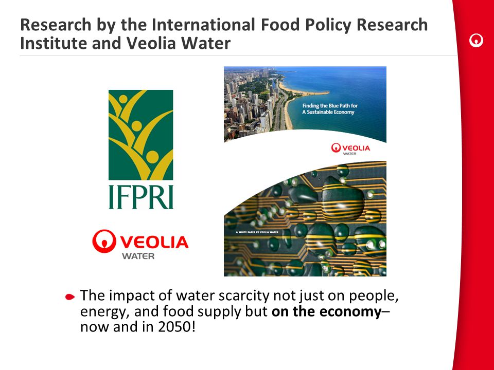 Research by the International Food Policy Research Institute and Veolia Water
