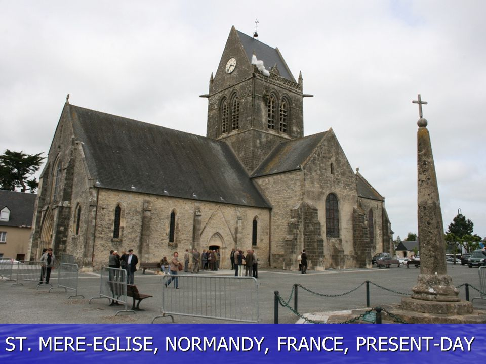 ST. MERE-EGLISE, NORMANDY, FRANCE, PRESENT-DAY