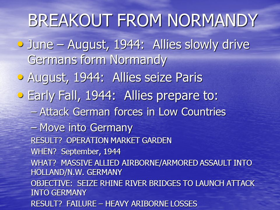 BREAKOUT FROM NORMANDY