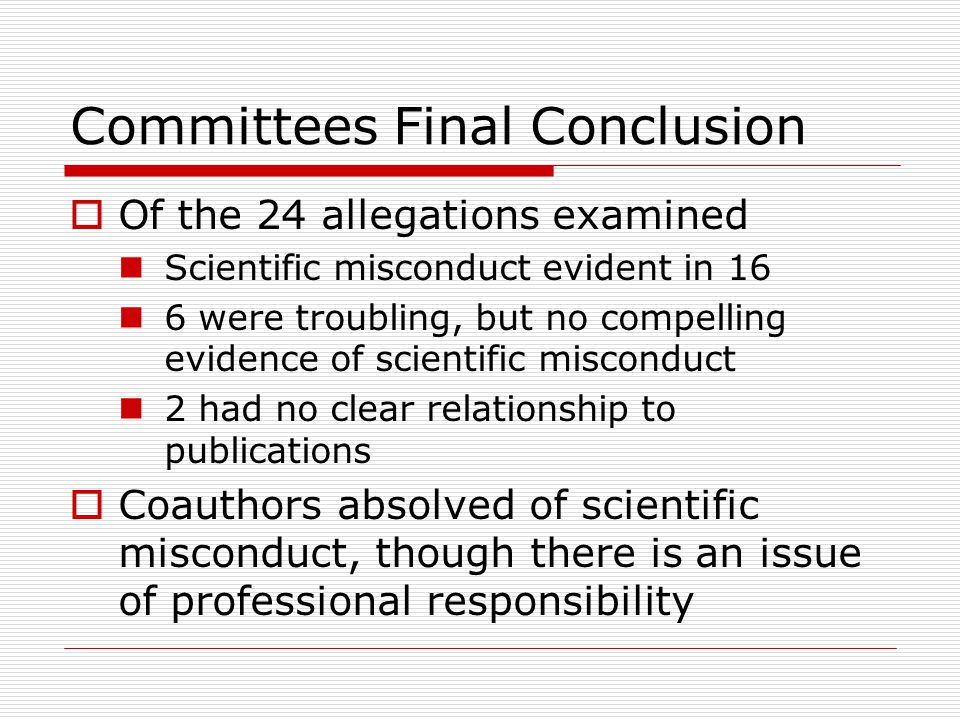 Committees Final Conclusion