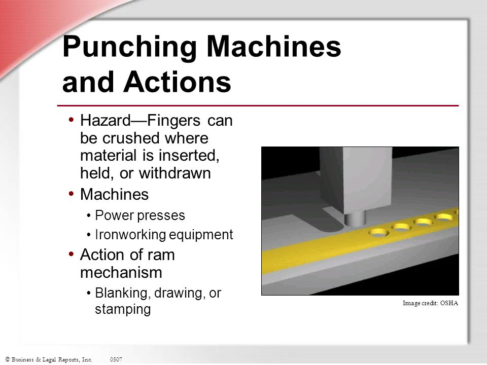 Punching Machines and Actions