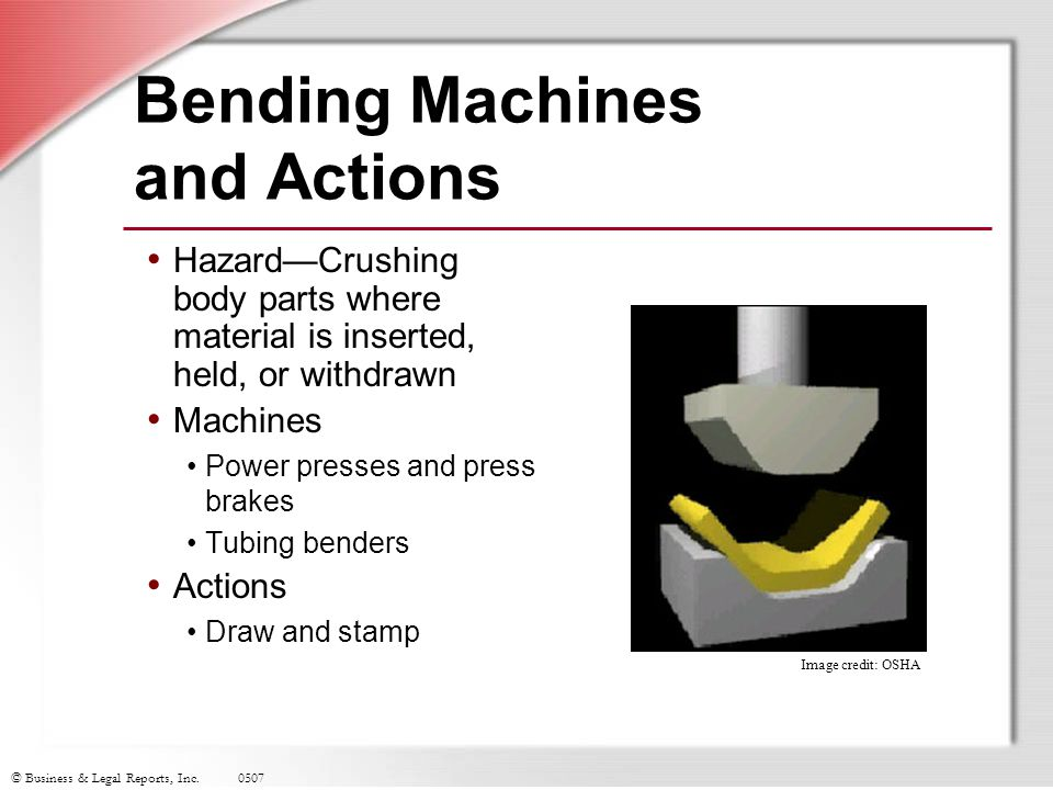 Bending Machines and Actions