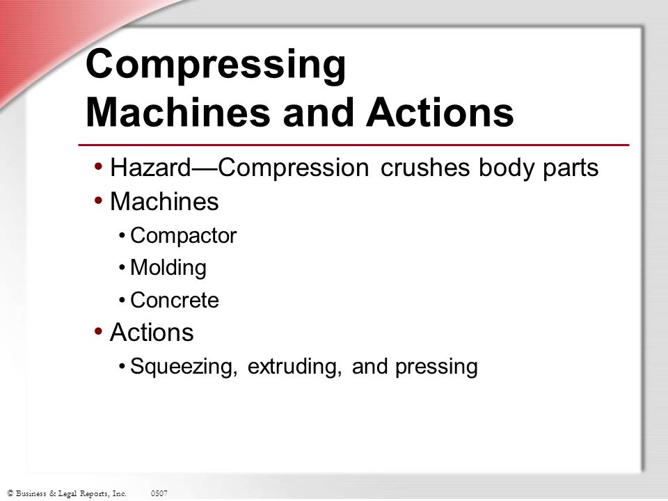 Compressing Machines and Actions