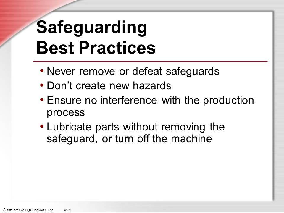 Safeguarding Best Practices