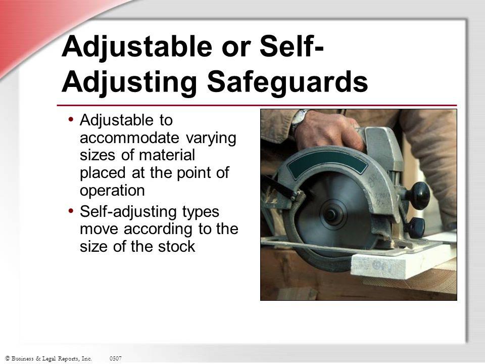 Adjustable or Self-Adjusting Safeguards