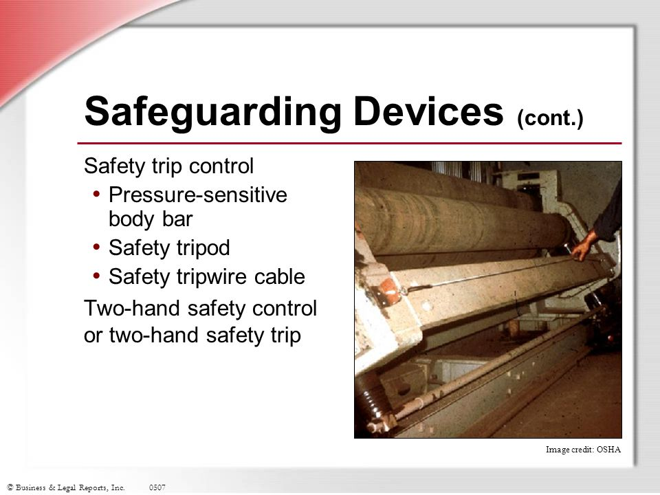 Safeguarding Devices (cont.)