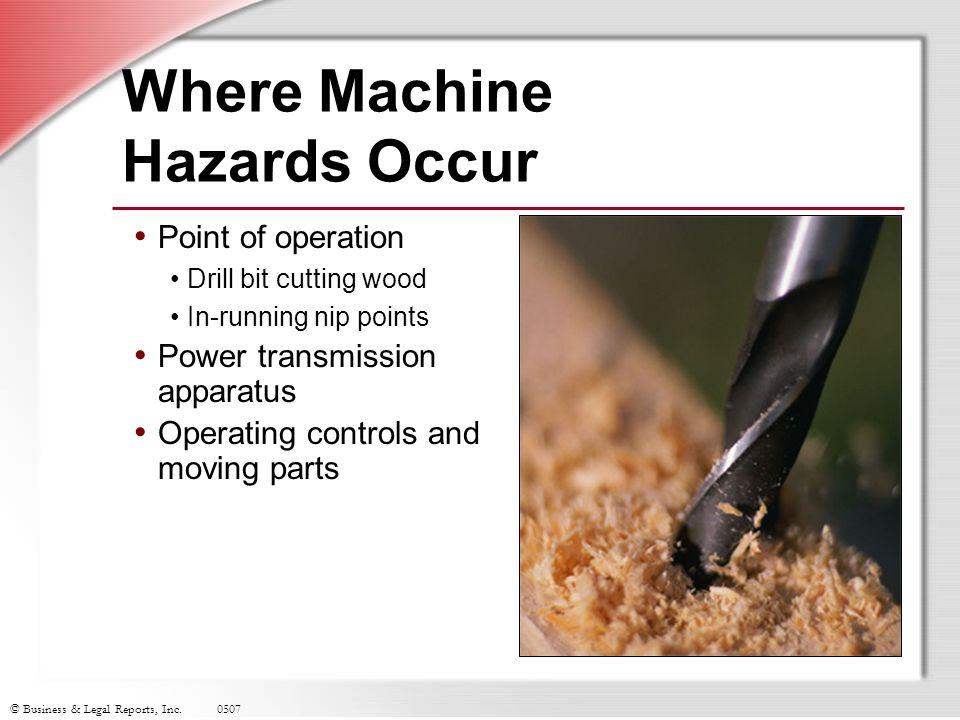 Where Machine Hazards Occur