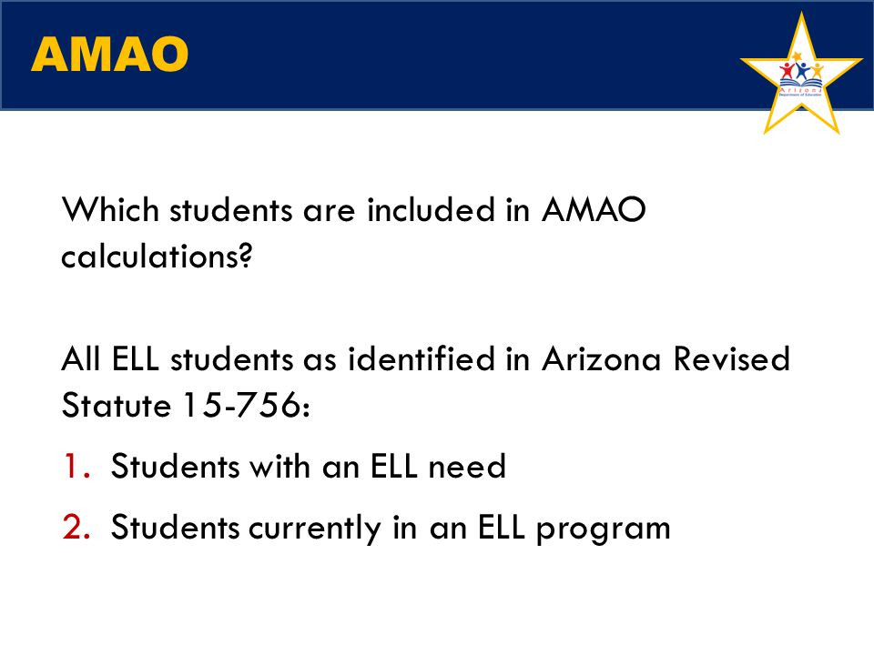 AMAO Which students are included in AMAO calculations
