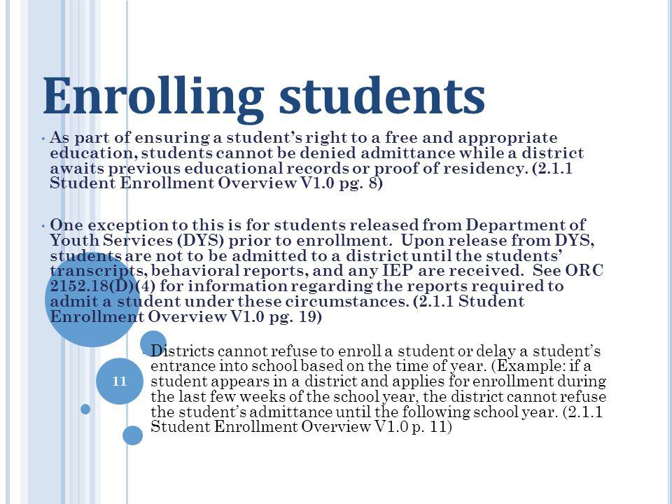 Enrolling students