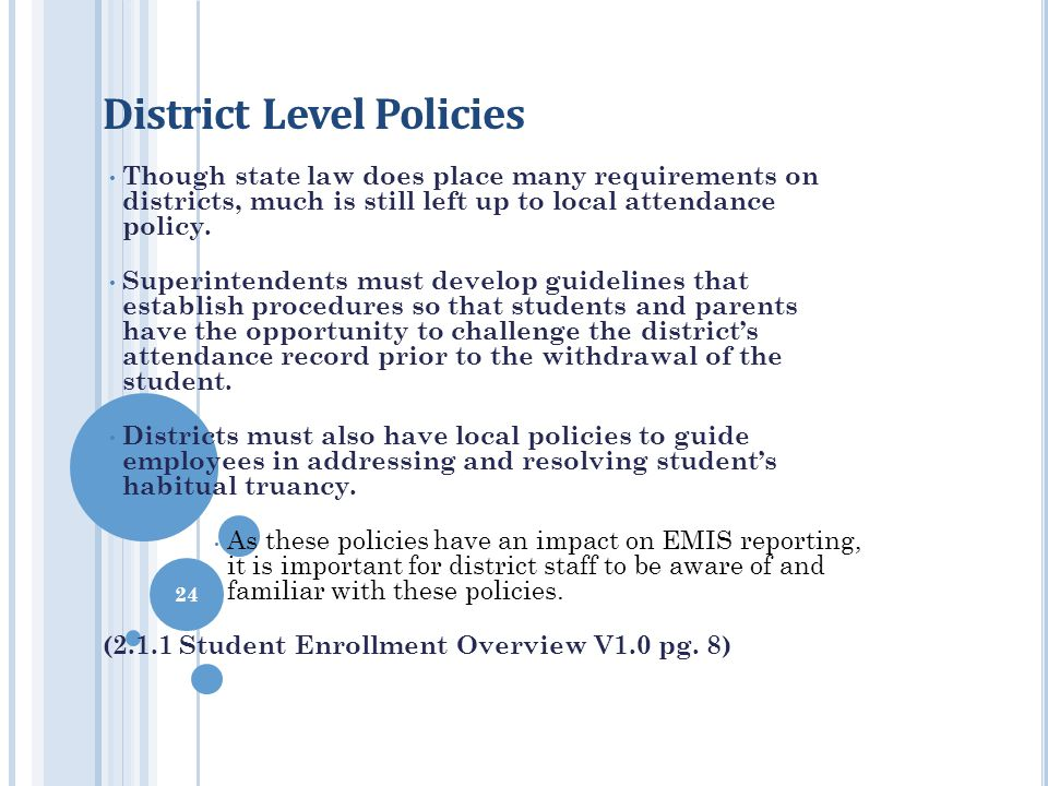 District Level Policies