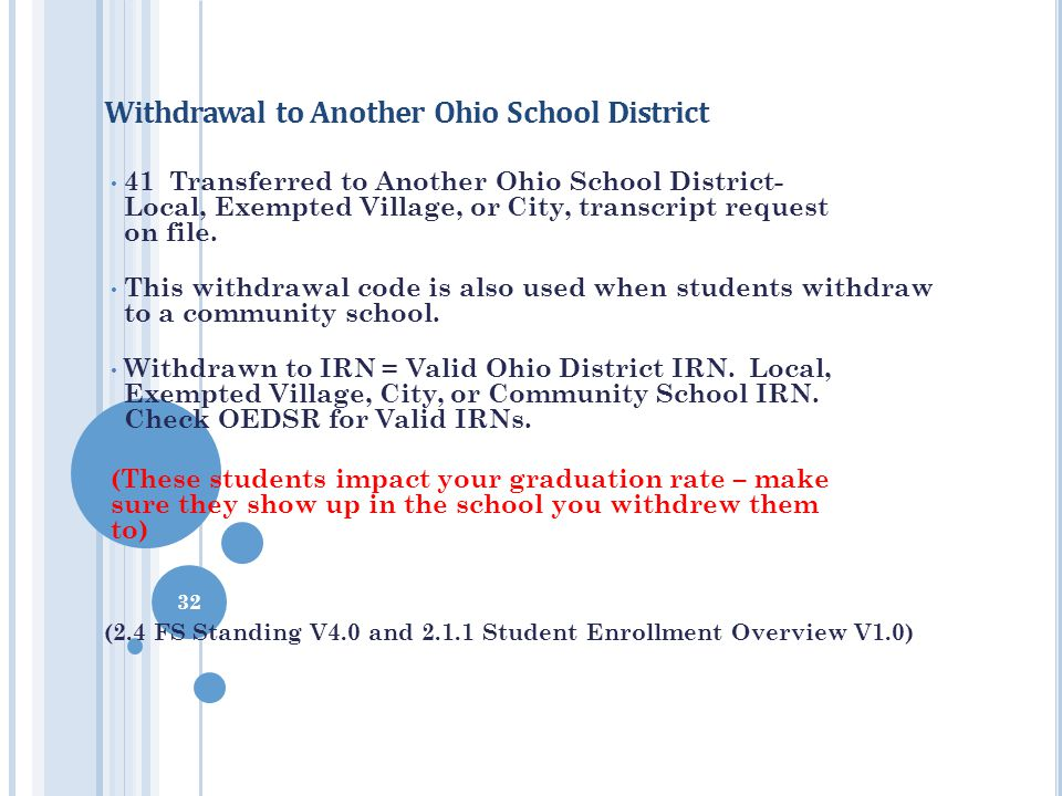 Withdrawal to Another Ohio School District