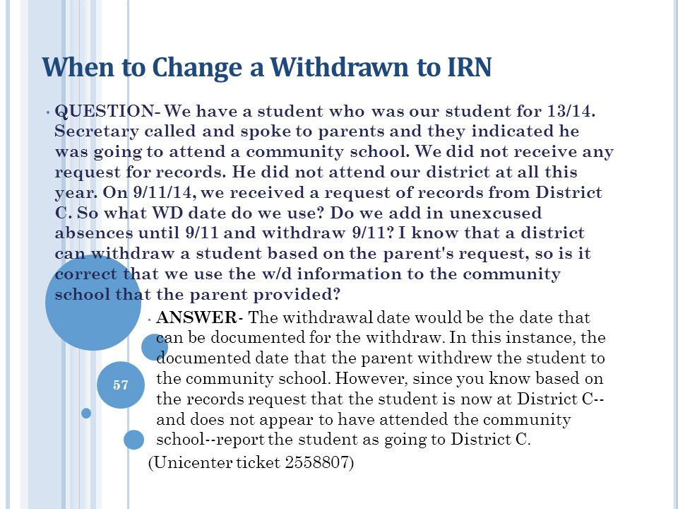 When to Change a Withdrawn to IRN