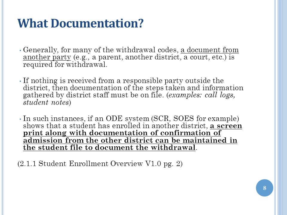 What Documentation