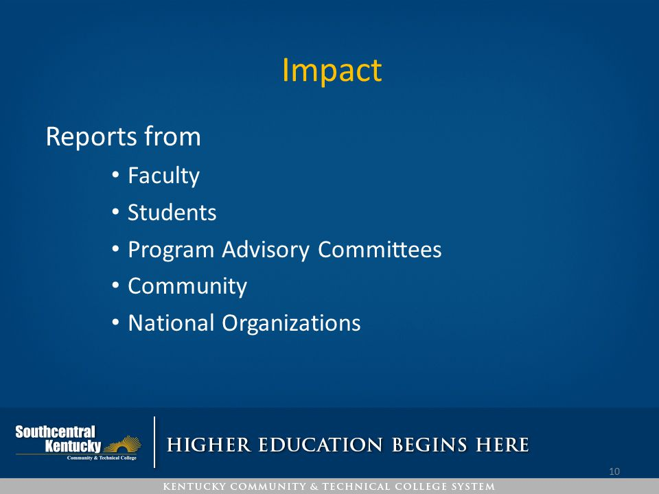 Impact Reports from Faculty Students Program Advisory Committees