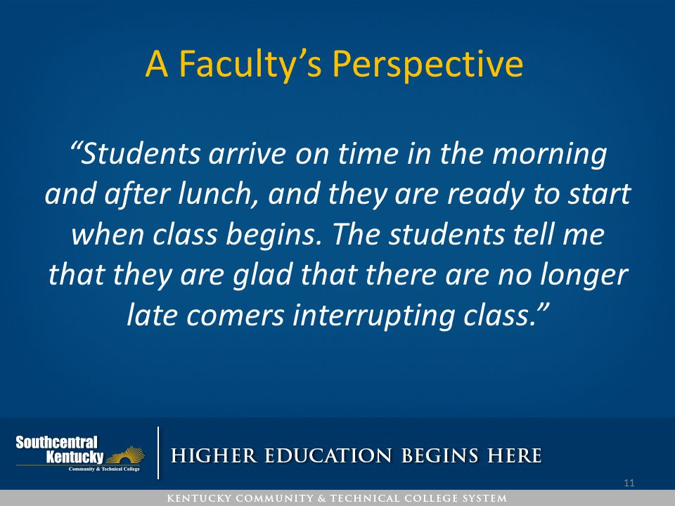 A Faculty's Perspective