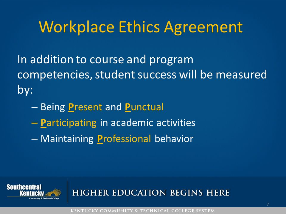 Workplace Ethics Agreement