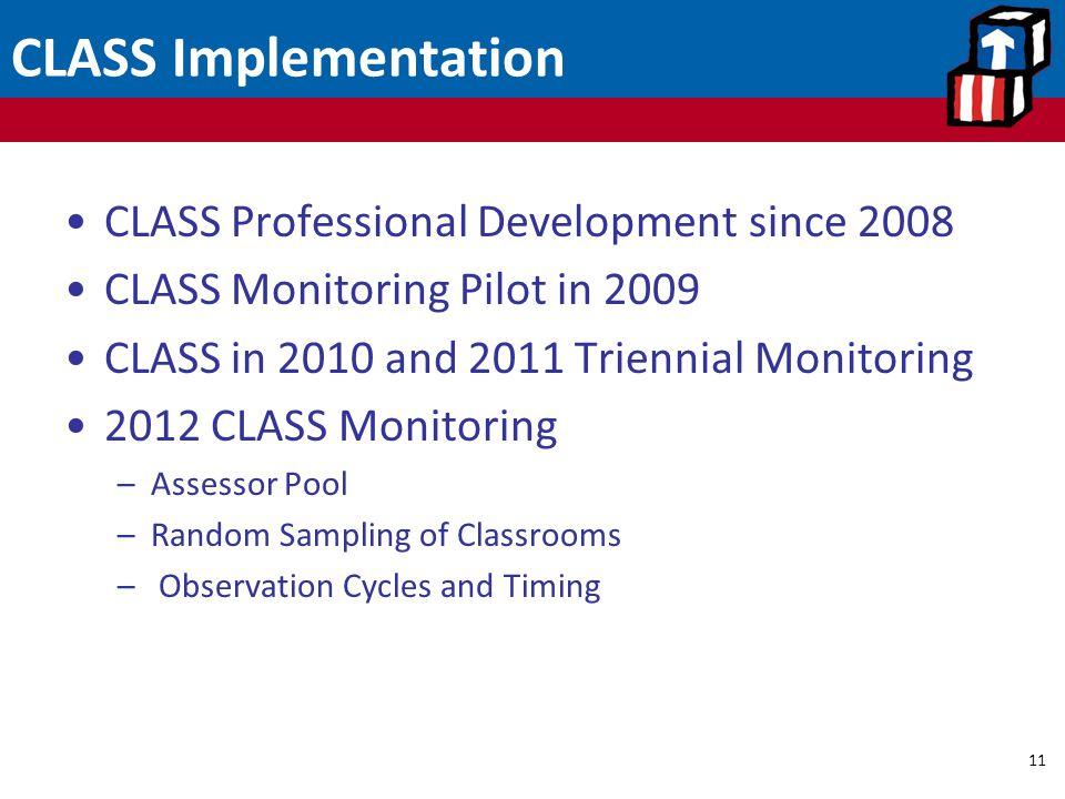 CLASS Implementation CLASS Professional Development since 2008