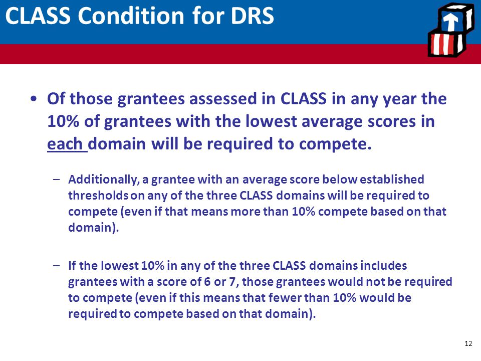 CLASS Condition for DRS