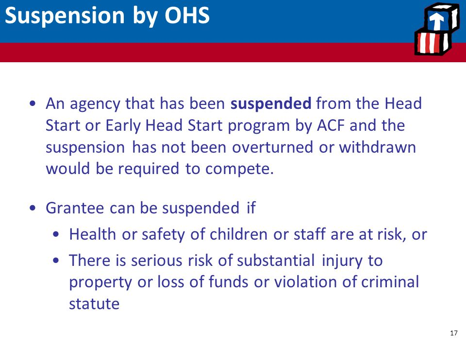Suspension by OHS