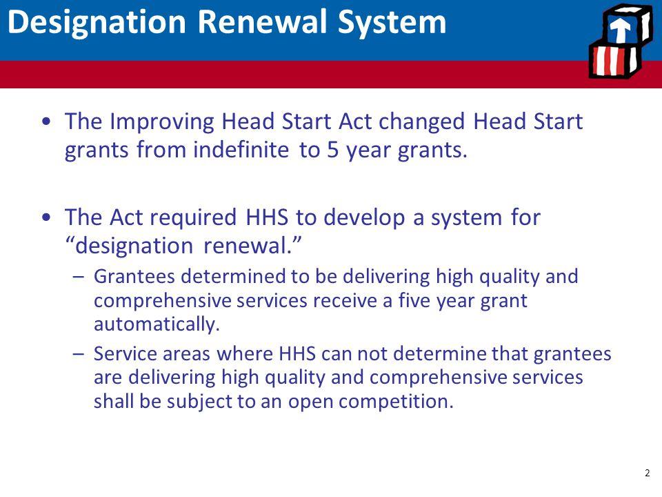 Designation Renewal System