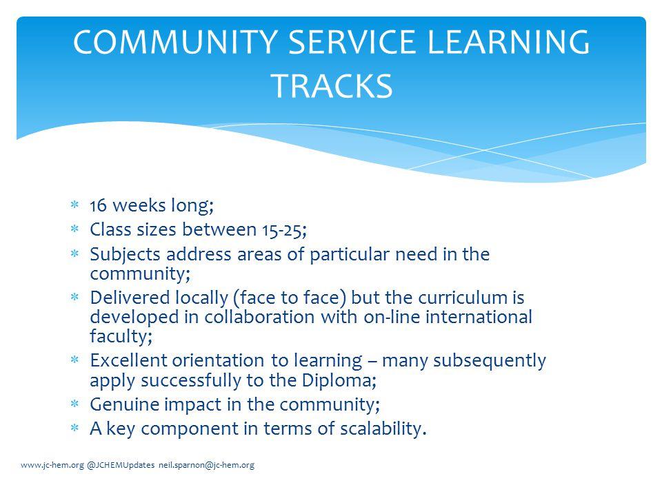 Community Service Learning Tracks