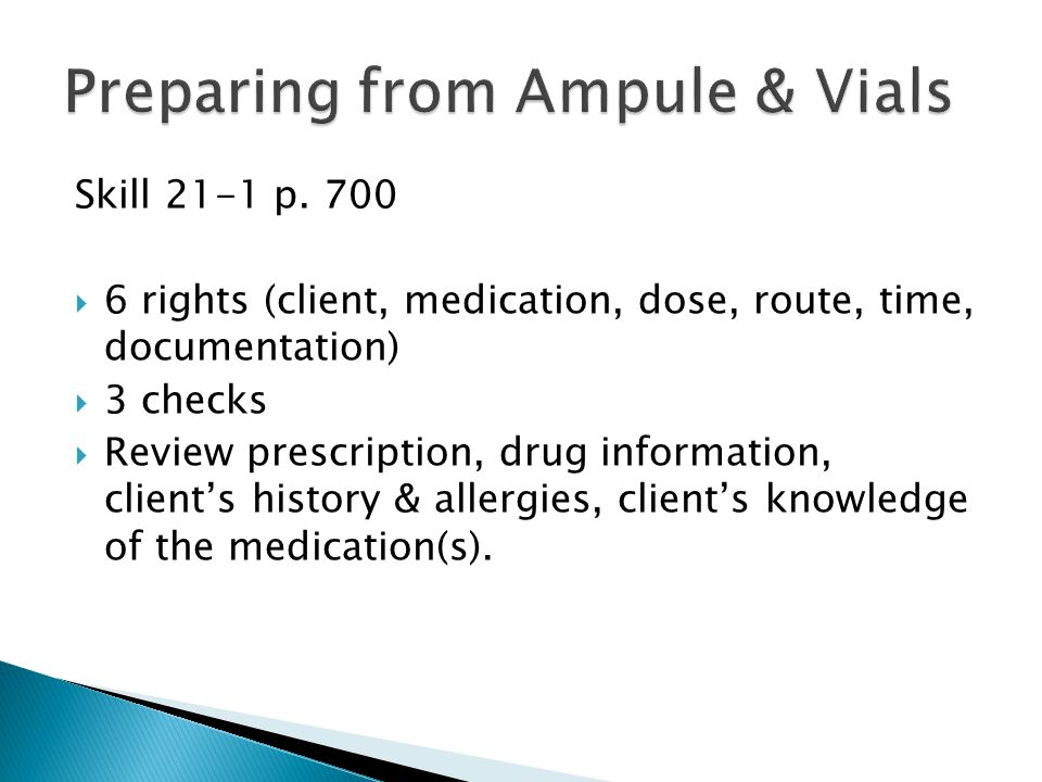 Preparing from Ampule & Vials