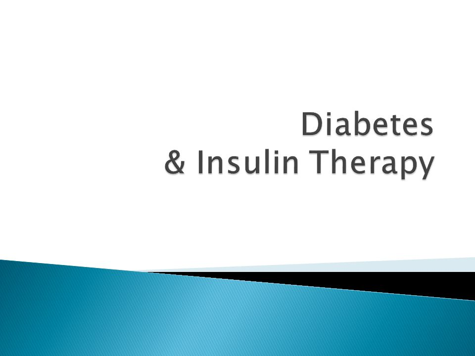 Diabetes & Insulin Therapy