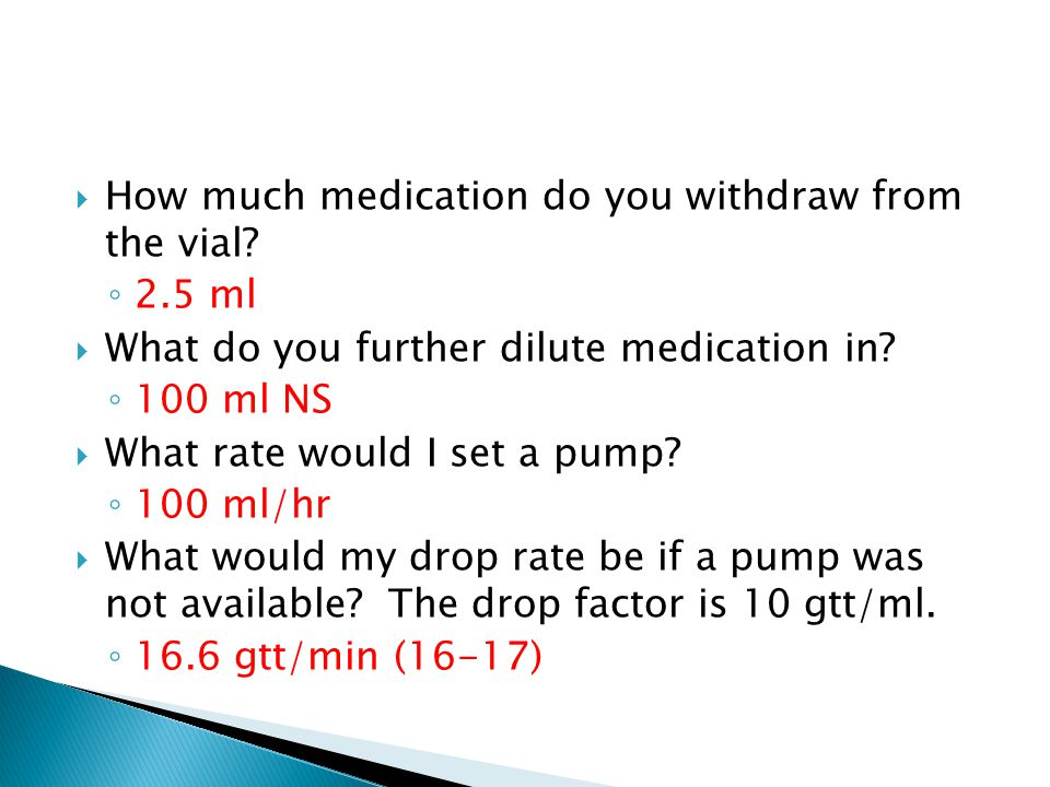 How much medication do you withdraw from the vial