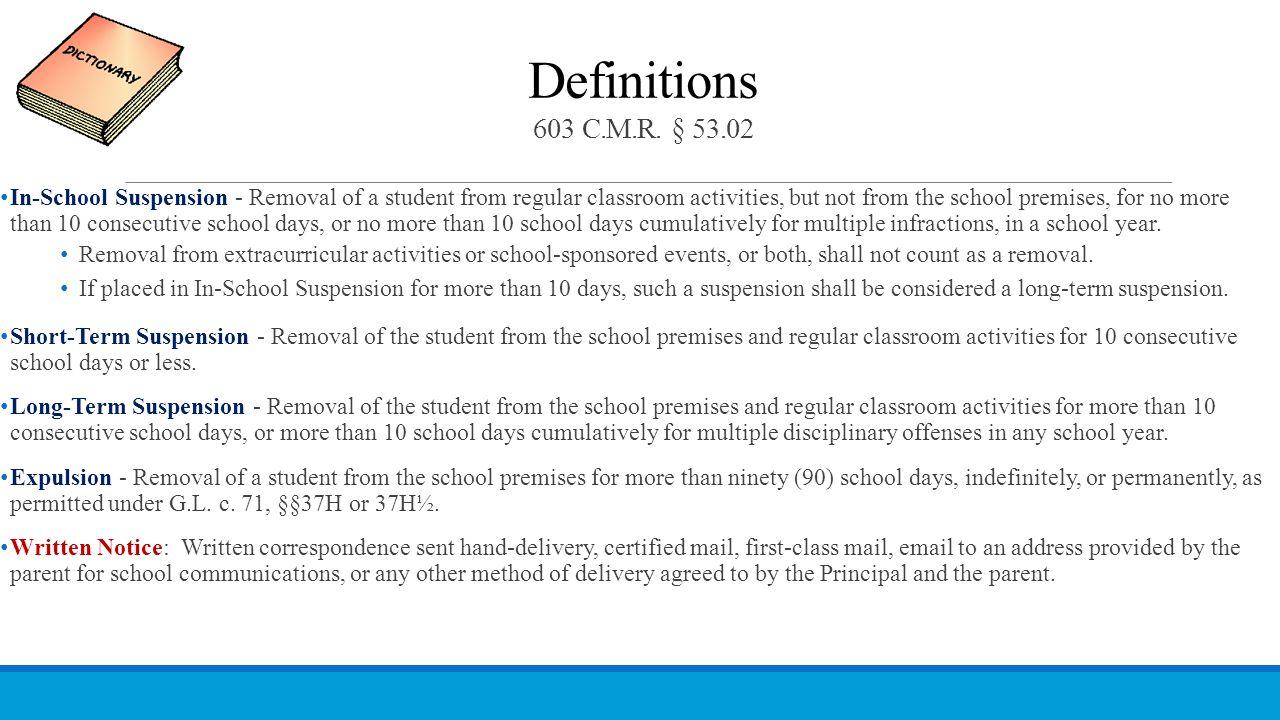 Definitions 603 C.M.R. § 53.02