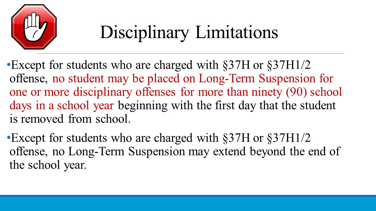 Disciplinary Limitations