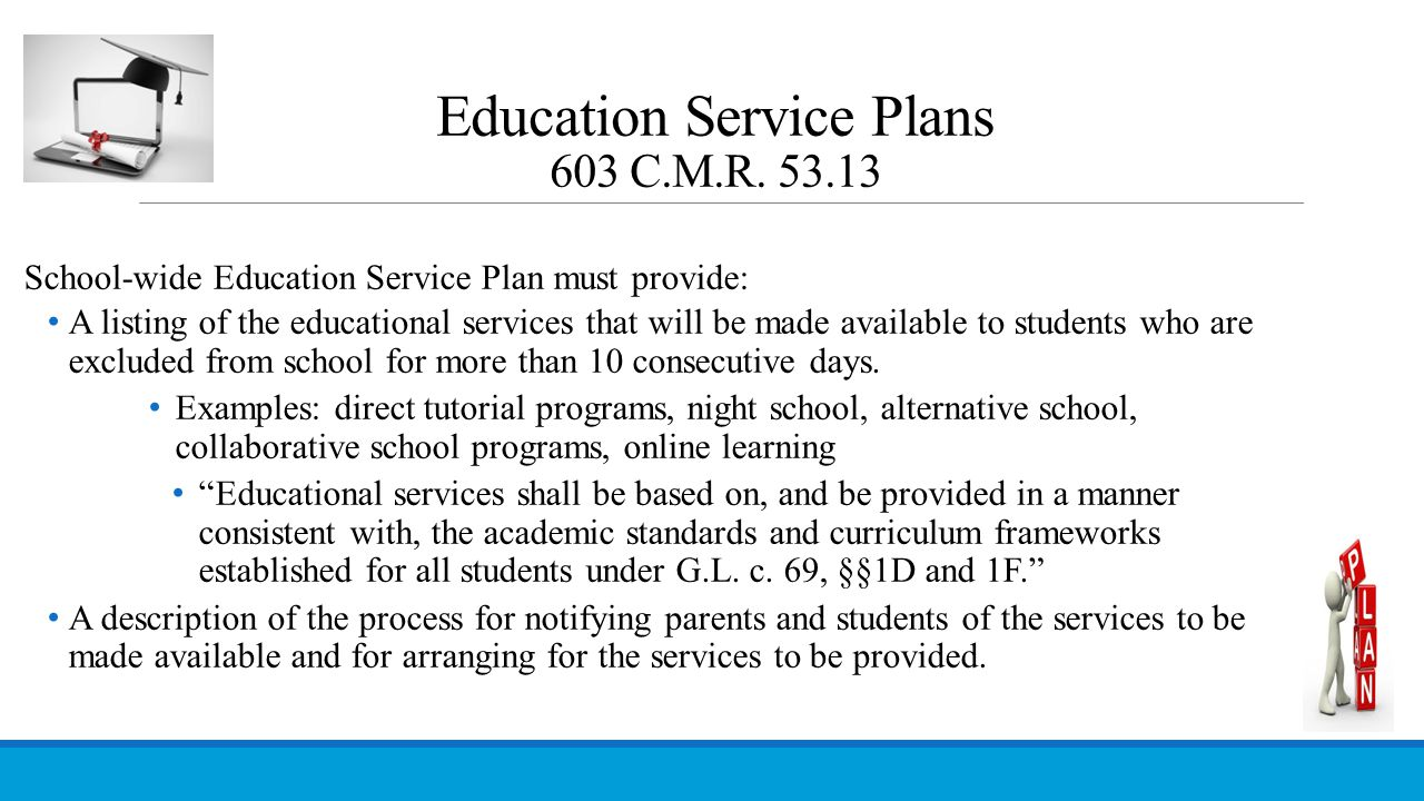 Education Service Plans 603 C.M.R. 53.13