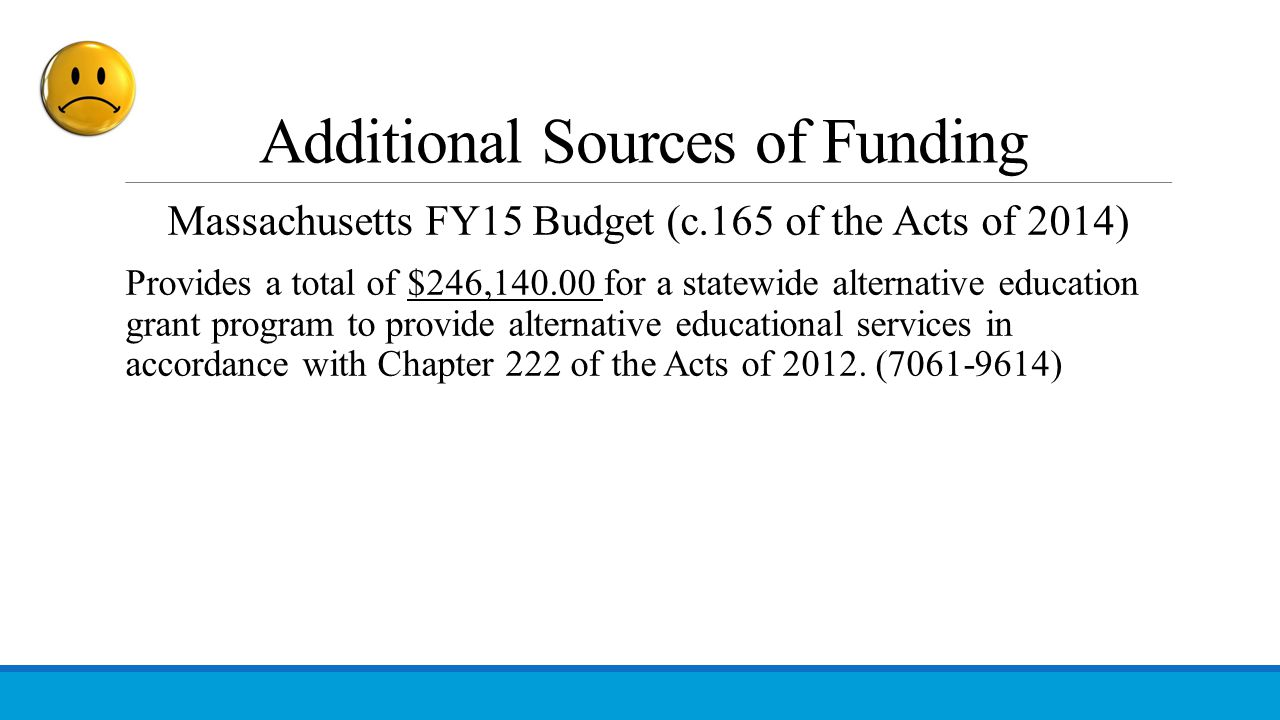 Additional Sources of Funding