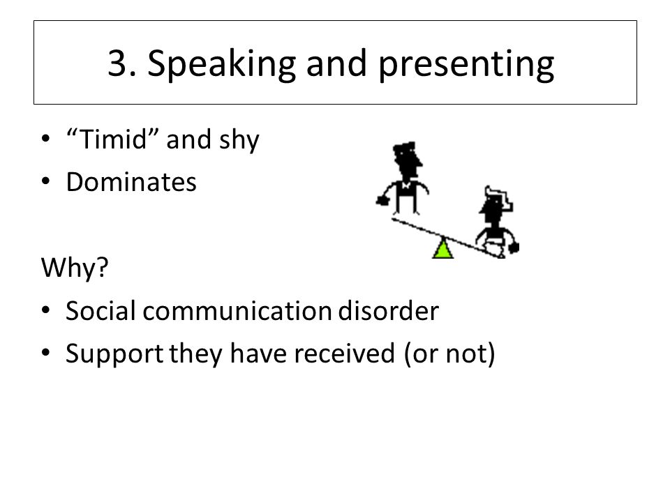 3. Speaking and presenting