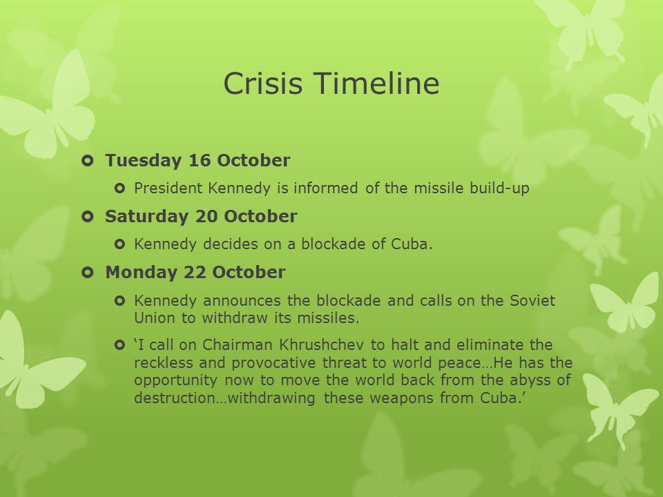 Crisis Timeline Tuesday 16 October Saturday 20 October