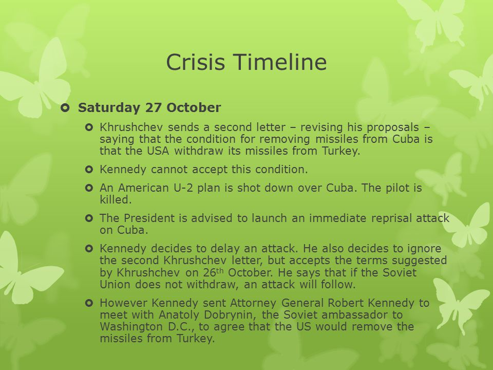 Crisis Timeline Saturday 27 October