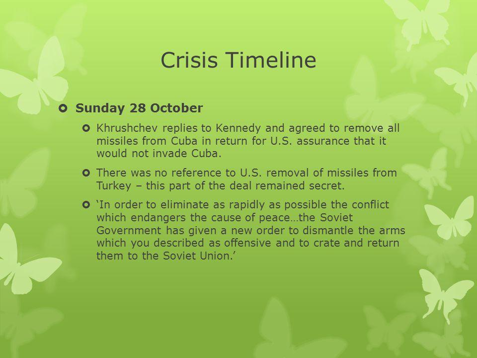 Crisis Timeline Sunday 28 October