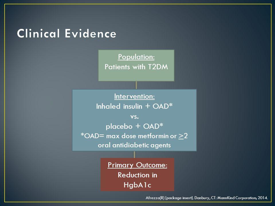 *OAD= max dose metformin or >2 oral antidiabetic agents