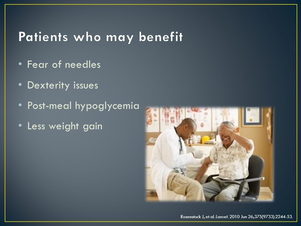 Patients who may benefit