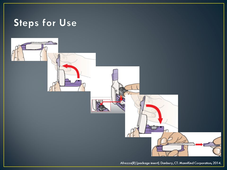 Steps for Use Open device and snap in cartridge