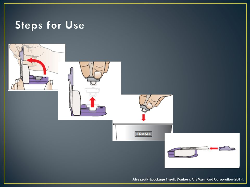Steps for Use Single use cartridge, discard when done
