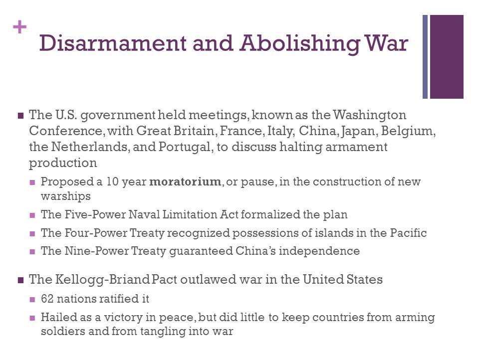 Disarmament and Abolishing War
