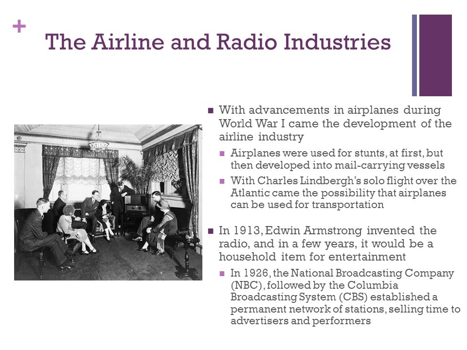 The Airline and Radio Industries