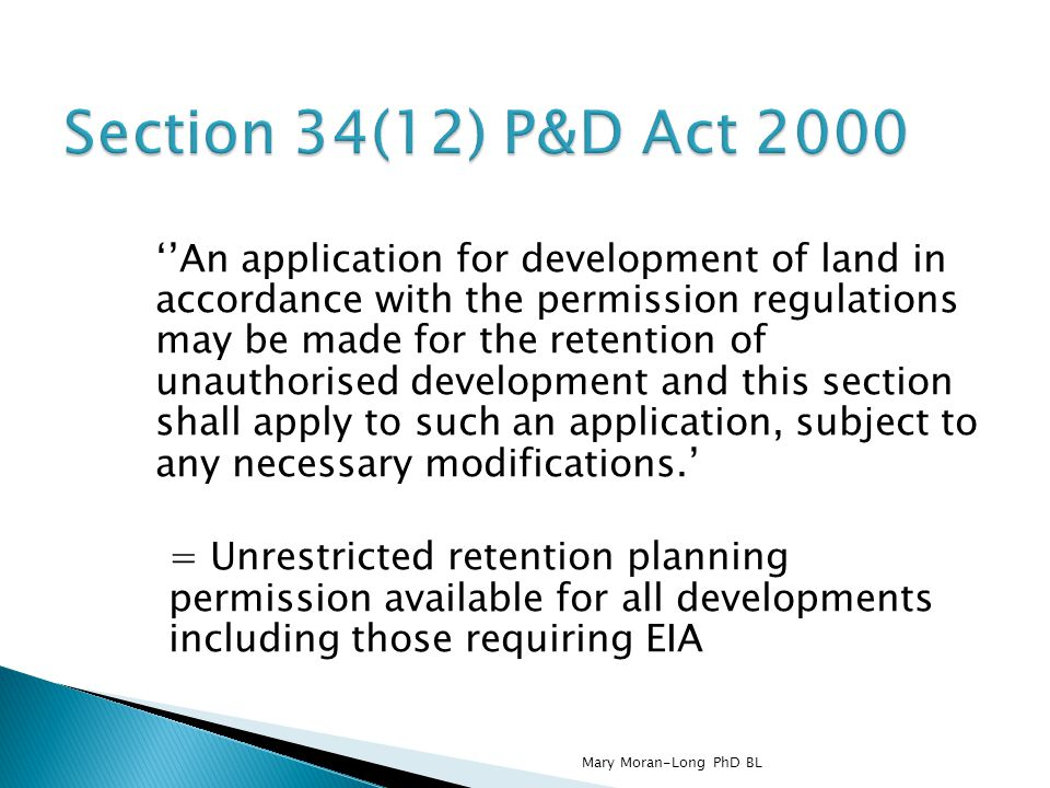 Section 34(12) P&D Act 2000