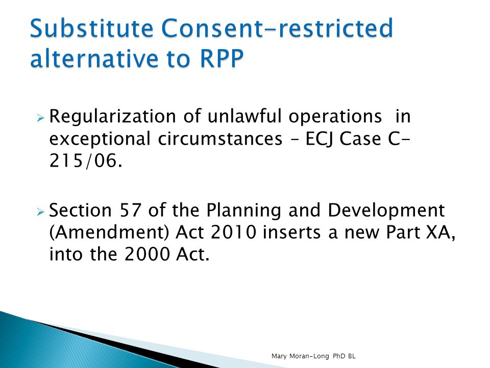 Substitute Consent-restricted alternative to RPP